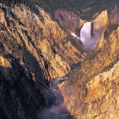 Lower Falls I Artist Point I Grand Canyon of the Yellowstone River I Yellowstone Nationalpark