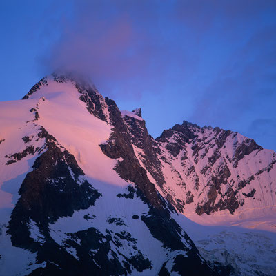 Erstes Morgenlicht über Großglockner I Nationalpark Hohe Tauern