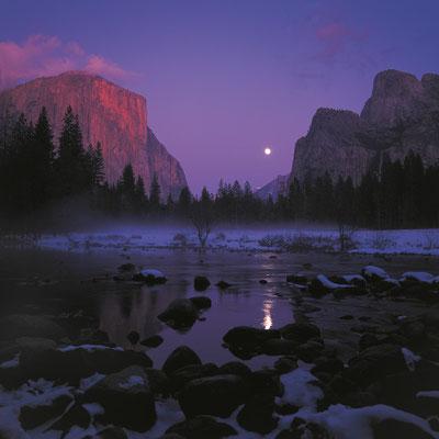 Mondaufgang am Valley View I Yosemite Nationalpark I Kalifornien