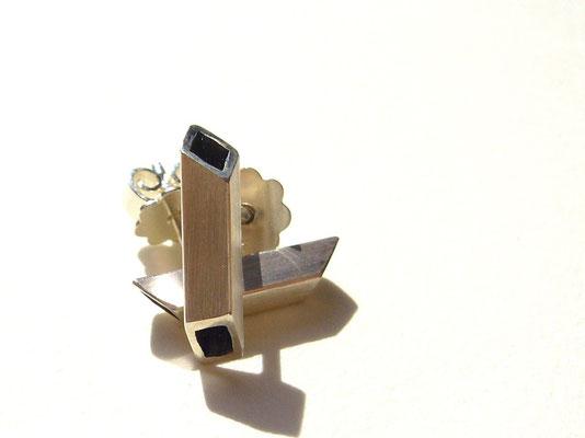 Verkauft: Ohrstecker 925/- Sterlingsilber, geschwärzt.