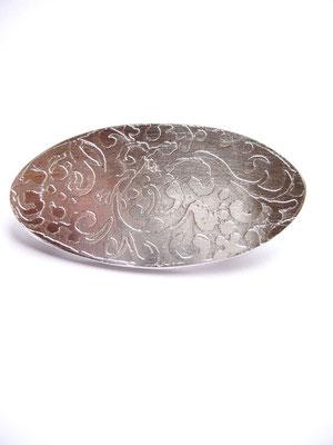 Verkauft: Brosche 925/- Sterlingsilber, mit einer Ätzung auf der Oberfläche.