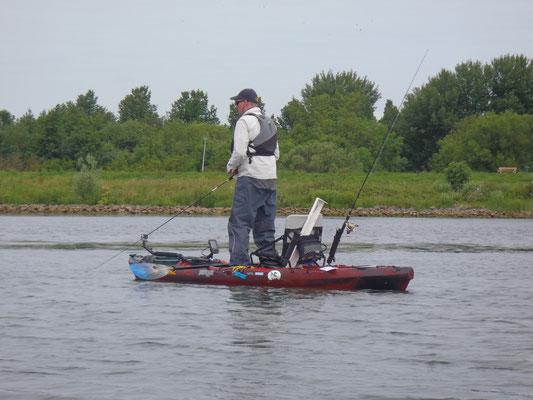 Relaxed staand vissen is mogelijk