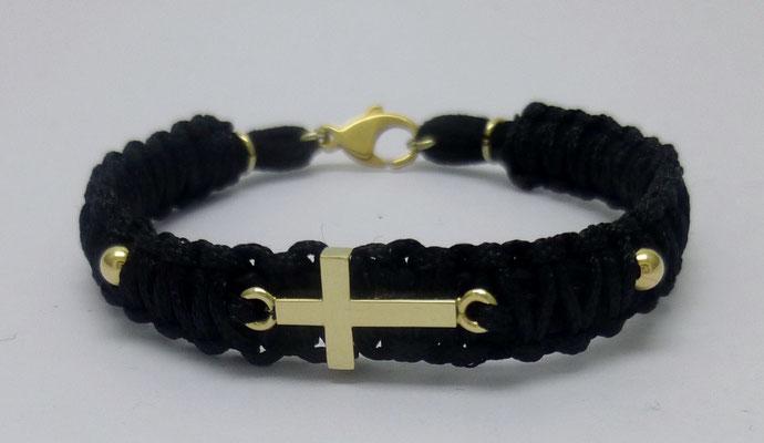 Armband Kreuz, 14 K Gelbgold