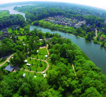 Naturcamping Kirchsee von oben