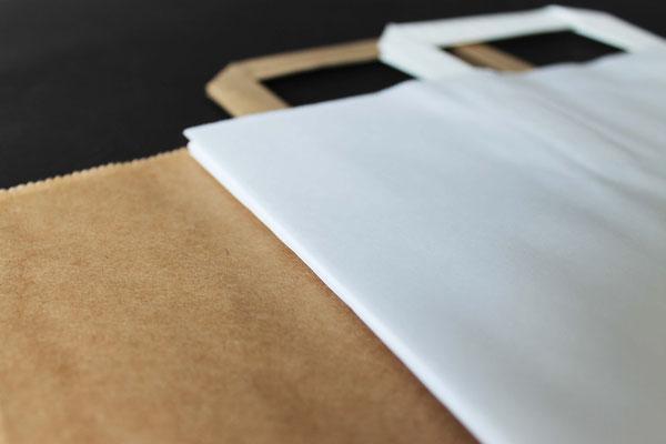 Papierqualität: Braun und Weiß Kraft