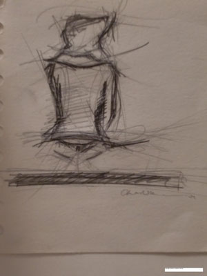 Life drawing - woman on the rails
