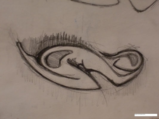 Womb, Head and Heart initial sketch sample