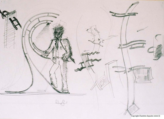 Designs for site specific 'Vertical Wave' sculpture - The Marriot Hotel