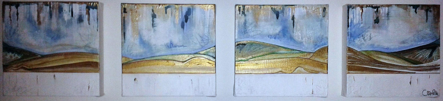 Landscape of a Woman - 4 sections each 20x20 (x4) cm, 2014.