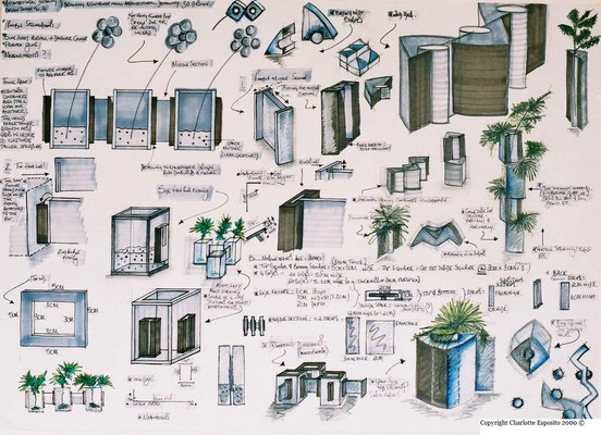 Architectural Detailing Project - saplings pot sketch sheet