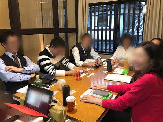 男性参加も多い京都大阪奈良開催、整理収納アドバイザー2級認定講座の雰囲気・様子。