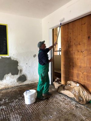 Renovationsarbeiten im Hauptstall