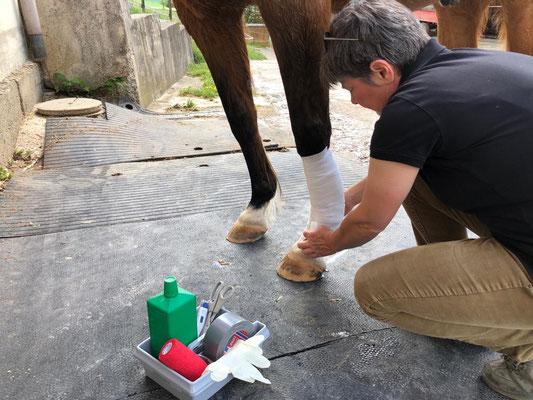 Behandlung von kleineren Verletzungen