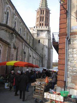 côté de l'église