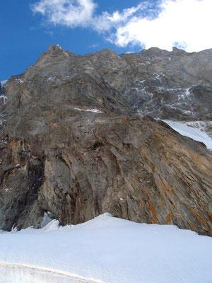Vom Wandfuß aus 1200m nach oben