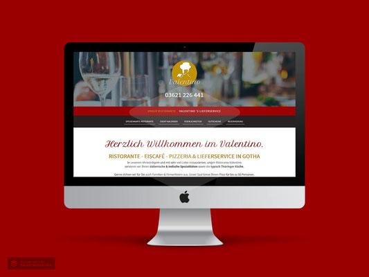 WEBDESIGN RESTAURANT VALENTINO GOTHA