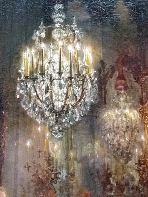 Lüster überm Kopf vom flötenden Friedrich dem Großen, 2019. Fotoprint, limitierte Auflage von fünf Fotos, 30x40 cm © Christian Benz