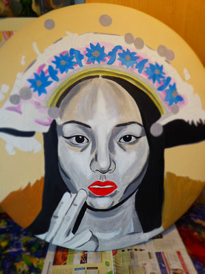 Königin aus Kapstadt-Untermalung in Acryl