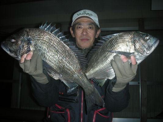 3月5日 飯塚さん ガバチヌ50㎝・44㎝