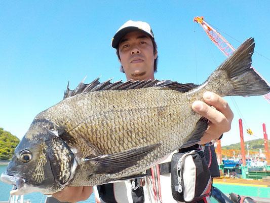 4月23日 磯釣りで木村さん ガバチヌ51.6㎝