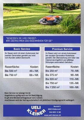 Kosten pro Monat für den Rasenmäh Service