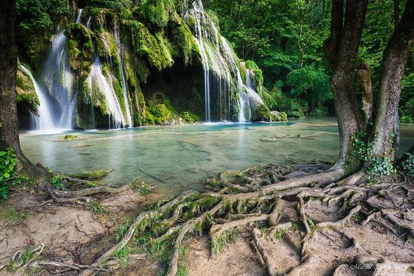 Frankreich-Wasserfall