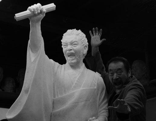 ブロンズ像のための石膏原型