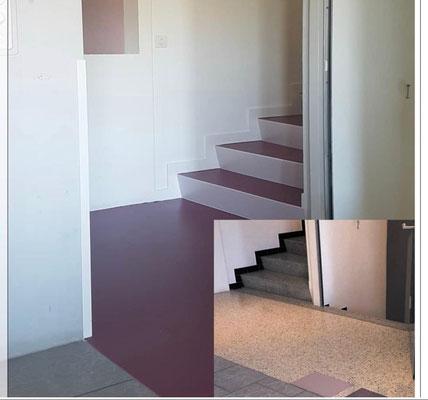 Die Farben wirken freundlich und passen gut zu den vorhandenen Farben im Haus.