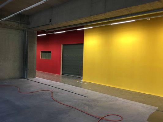 Das Farbkonzept wird umgesetzt im Ersatzbau.
