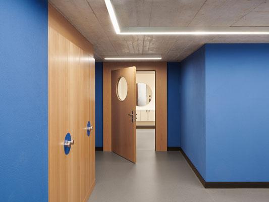 Korridor Farbkonzept  für den Neubau.