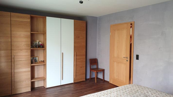 Das Schlafzimmer in natürlichen Farben und Materialien