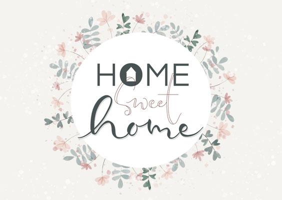 "Karte ""Home sweet home"""