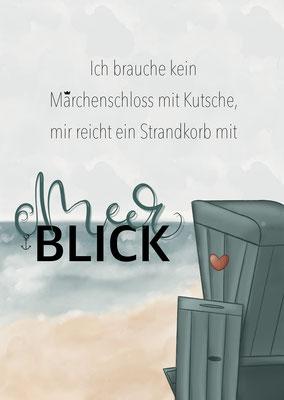 """Karte """"Meerblick"""""""