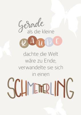 """Karte """"Schmetterling"""""""