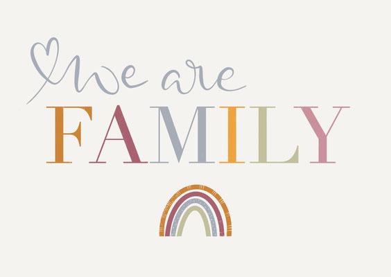 """Karte """"Family"""" weiß"""