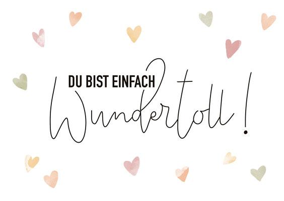 """Karte """"Wundertoll"""""""