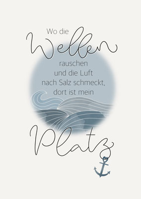 "Karte ""Wellenrauschen"""