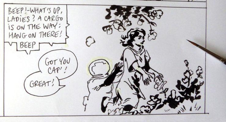 Earthbound : détail / detail {une histoire en 9 pages, à paraître / a 9 pages story, to be published}