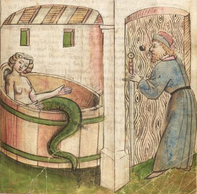 Thüring von Ringoltingen, Melusine, Allemagne / Germany 1468 (Nürnberg, Germanisches Nationalmuseum, Hs 4028, fol. 50r)