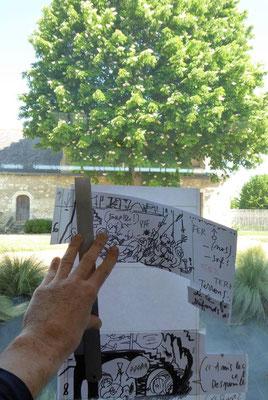 La Pépie dès Potron-Minet : dans l'accueillante médiathèque de Beaufort-en-Vallée (Anjou) / Working away in Beaufort-en-Vallée (Anjou) most welcoming public library (mai / may 2018)