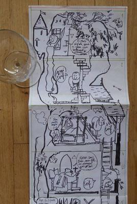 La Pépie dès Potron-Minet : hommage à / a tribute to François Rabelais (aux éditions Polystyrène, collection Façades)