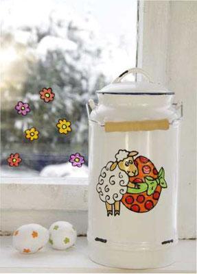 Osterschäfchen - Malen mit Window Color GLAS DESIGN