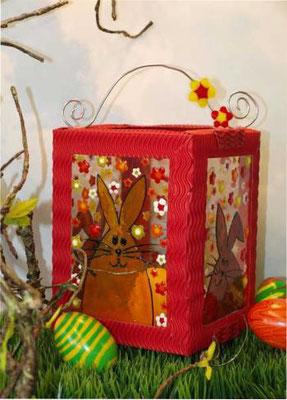 Frühlingslaterne mit Window Color