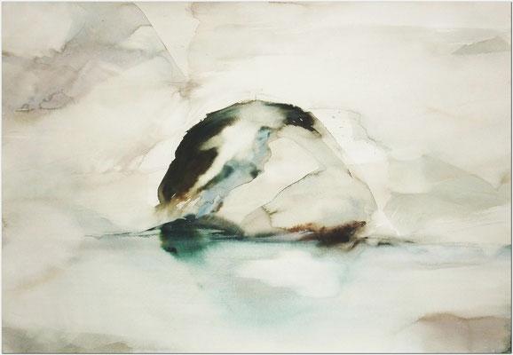 """""""N0. 0行為と時間"""" 2012 Water Color on paper 54,5×78,8cm"""