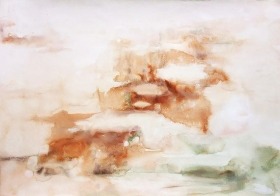"""Recollection2""  2011 Watercolor  gouache on paper 54,5×78,8cm"