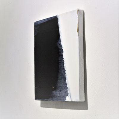 """""""No.108 Measurement """"  2018 oil on canvas  27.3×27.3cm"""