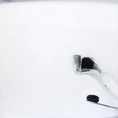 """""""No.55 間にあるものとの対話"""" 2013  Acryic gouache . gesso on wood panel 53×53cm"""