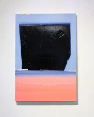 """""""No.110 Measurement """"  2018 oil on canvas  55×38cm"""