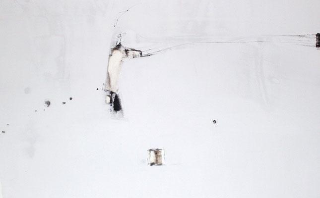 """""""No.50 間にあるものとの対話"""" 2013 Water Colo . gouache on paper 65.2×100cm"""