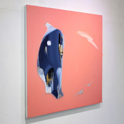 """No.111 Measurement ""  2018 oil on canvas  65.2×65.2cm Private Collection"